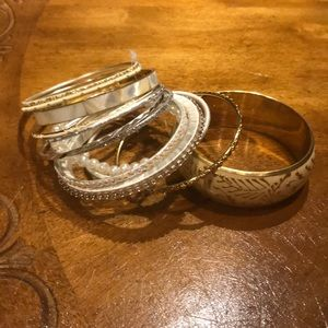 NWT set of twelve bangle bracelets.